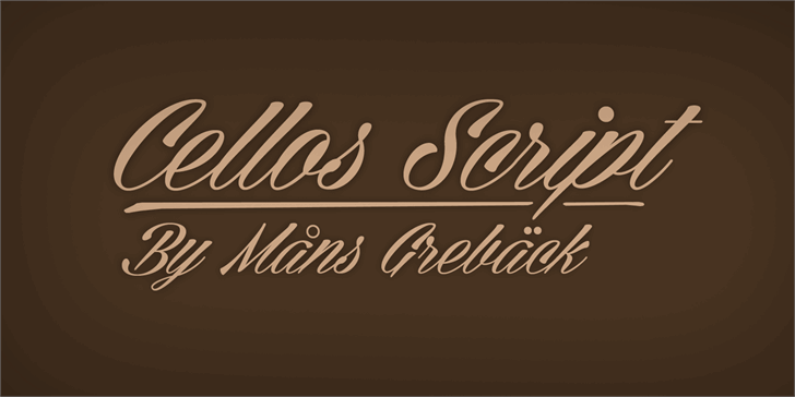 Cellos Script Personal Use Only font by Måns Grebäck