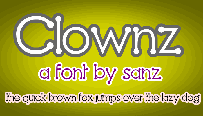 Image for Clownz font