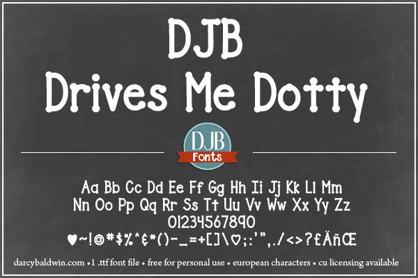 Image for DJB Drives Me Dotty font