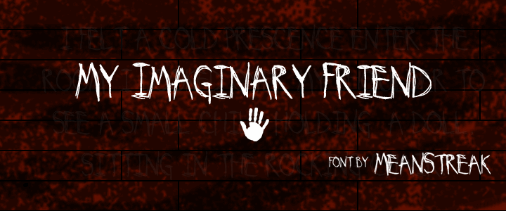 Image for My Imaginary Friend font