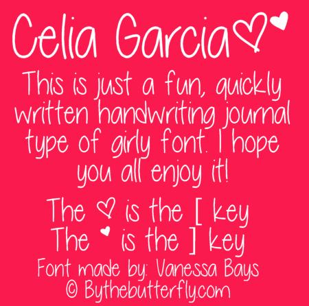 Image for Celia Garcia font
