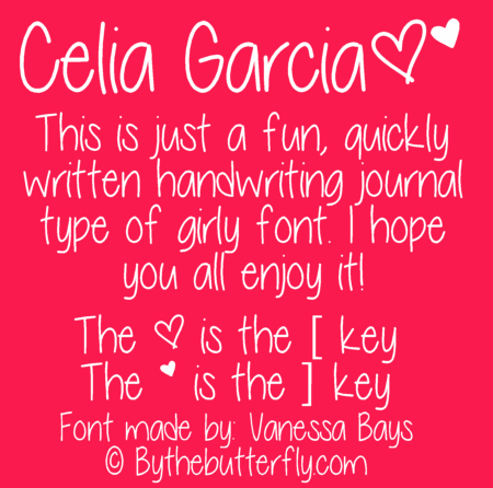 Celia Garcia font by ByTheButterfly