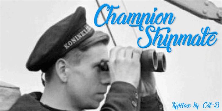 Image for Champion Shipmate font