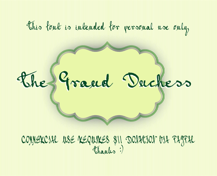 Image for Grand Duchess font