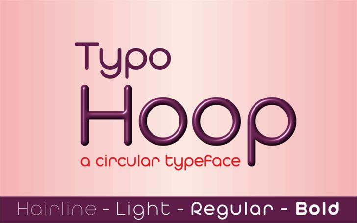 Typo Hoop Demo font by studiotypo