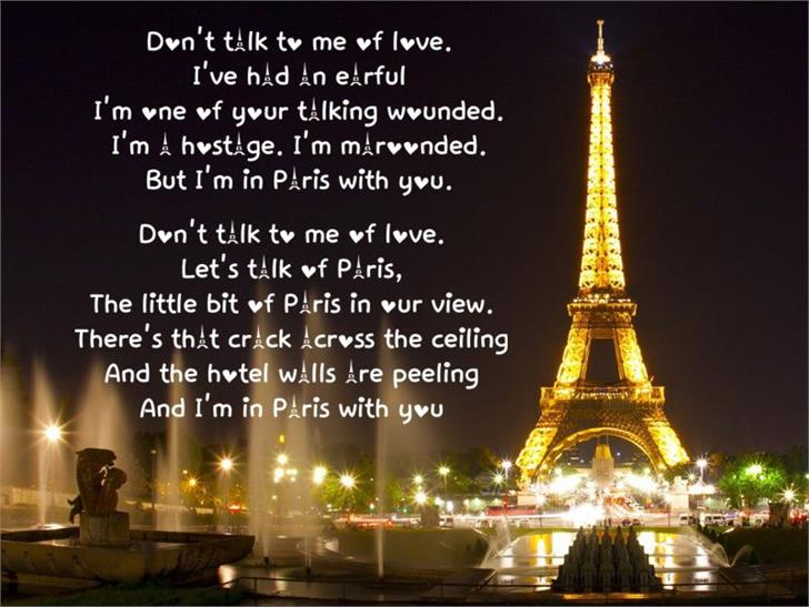 Image for Love in Paris font