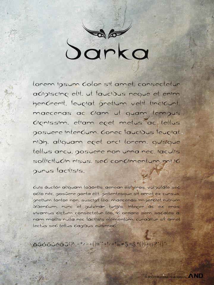 Image for barka font