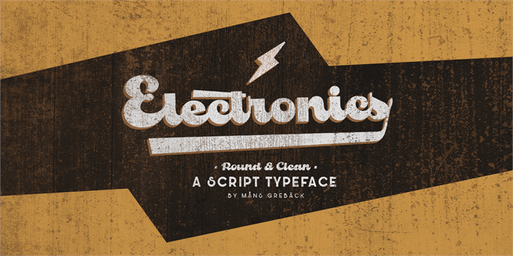 Image for Electronics PERSONAL USE font