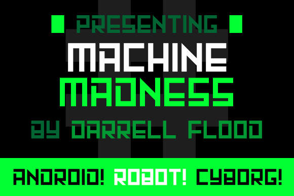 Image for Machine Madness font