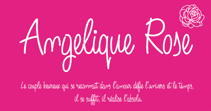 Image for Angelique Rose font