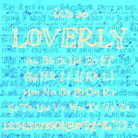 Loverly font by calej d'art
