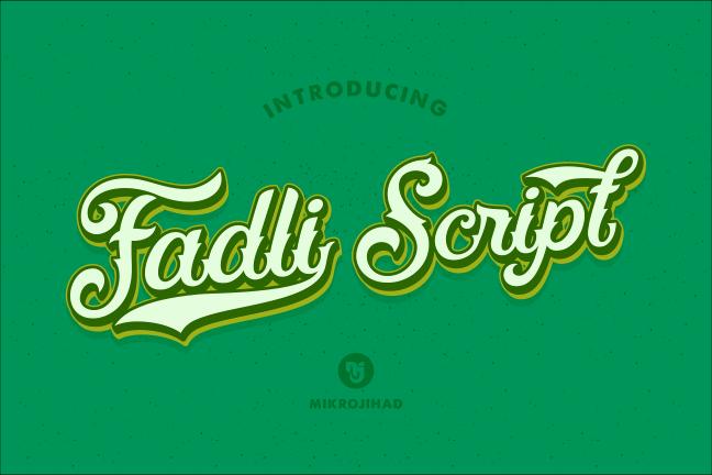 Fadli Script font by Mikrojihad Font