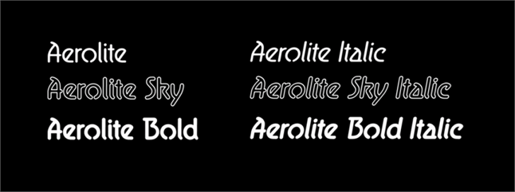 Aerolite font by Jan Paul