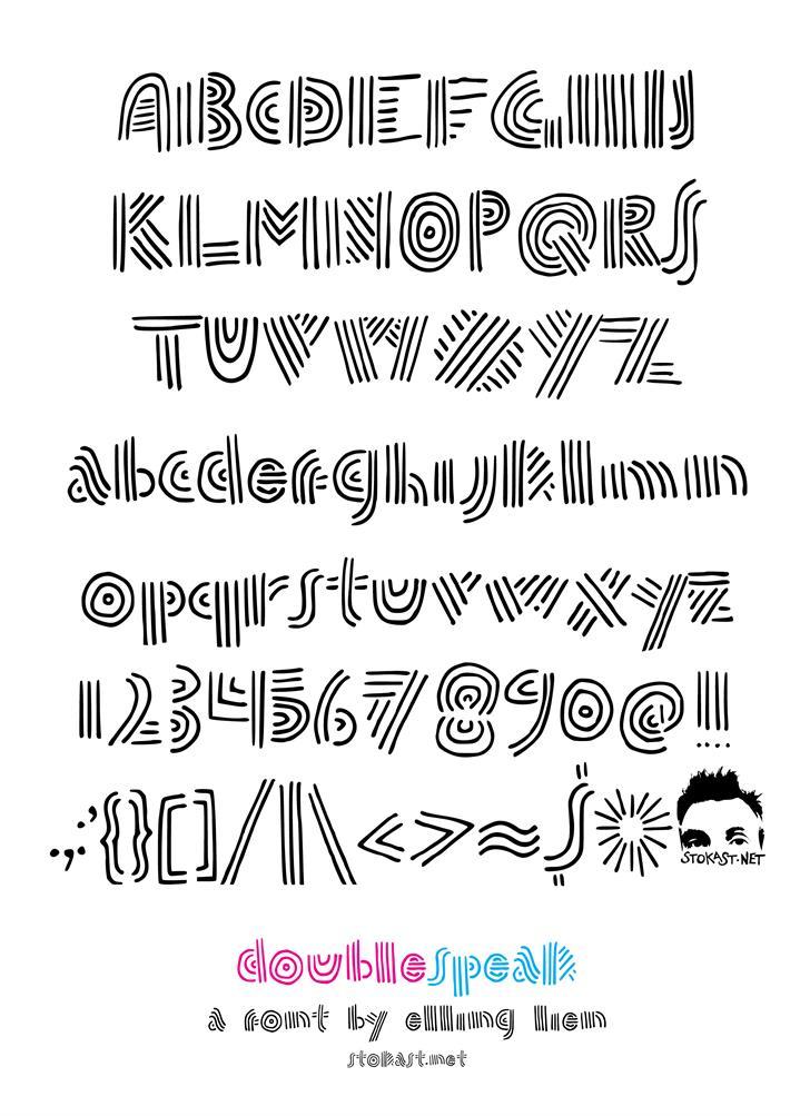 Image for doublespeak font