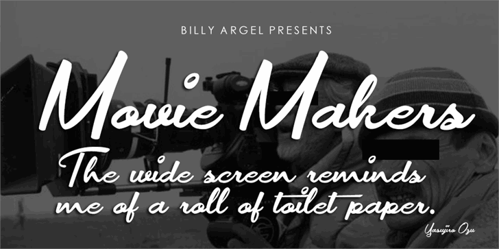 Movie Makers Personal Use font by Billy Argel