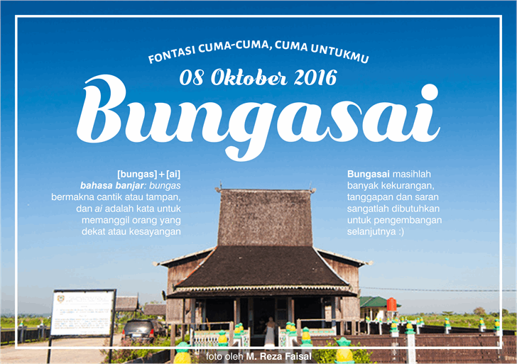 Image for Bungasai font
