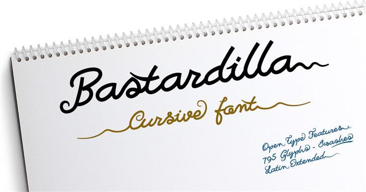 Image for Bastardilla font