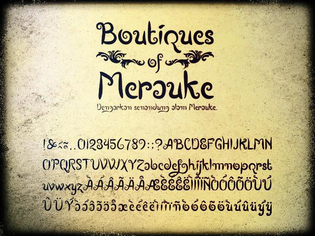 Image for Boutiques of Merauke font