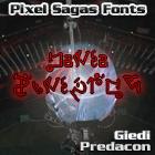 Giedi Predacon font by Pixel Sagas