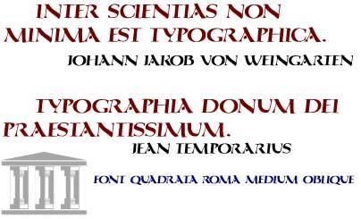 Image for QuadrataRoma font