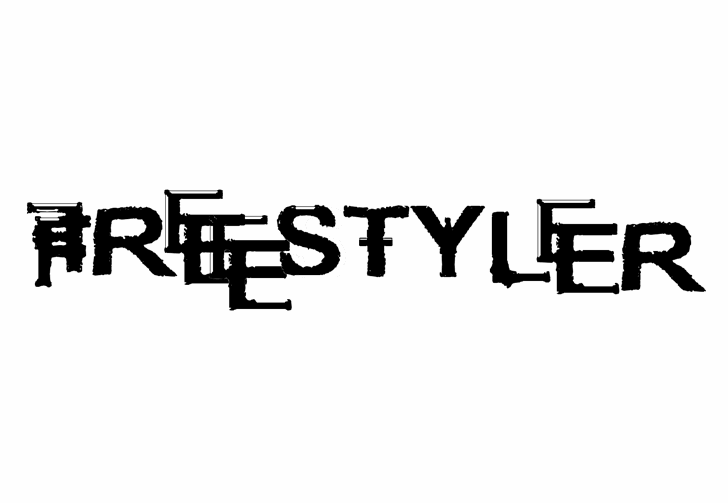 freestyler ancient f6(modified) font by lax studios