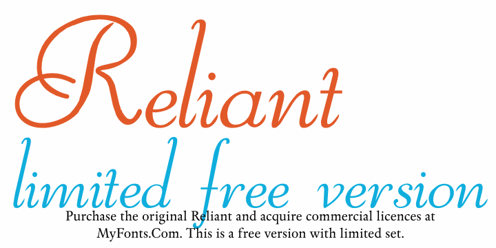 Image for Reliant Limited Free Version font
