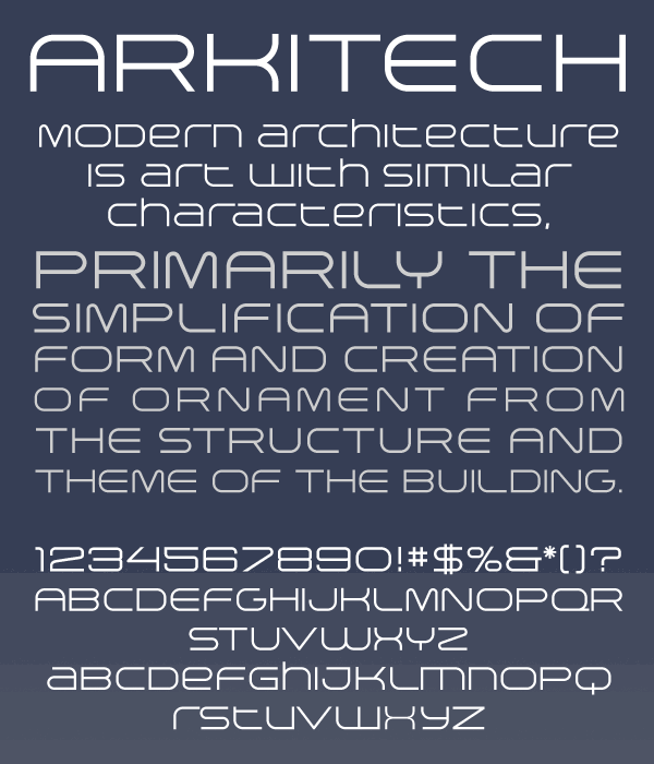 Image for Arkitech font