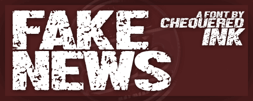 Image for Fake News font