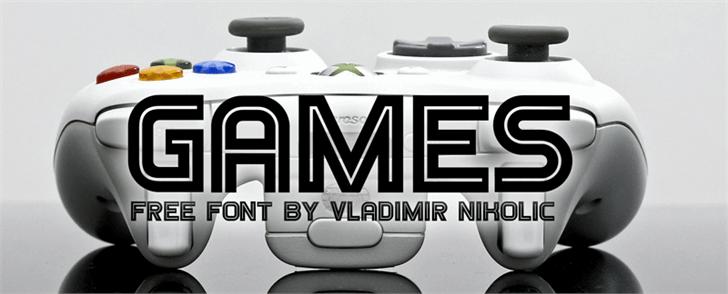 Games font by Vladimir Nikolic