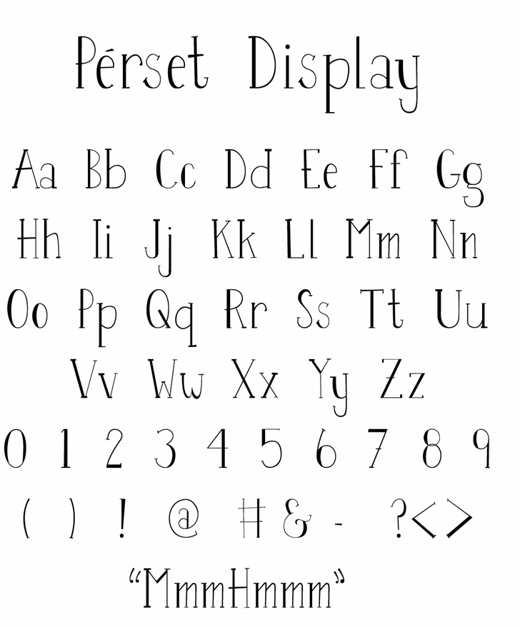 Image for Perset font