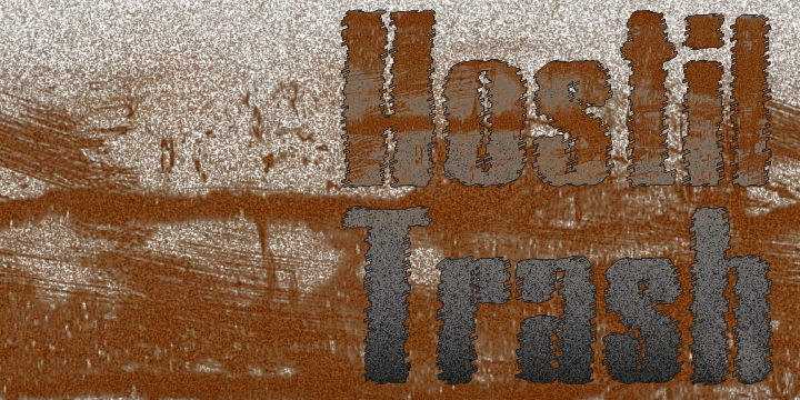 Image for Hostil Trash font