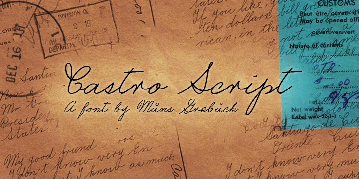 Image for Castro Script PERSONAL USE ONLY font