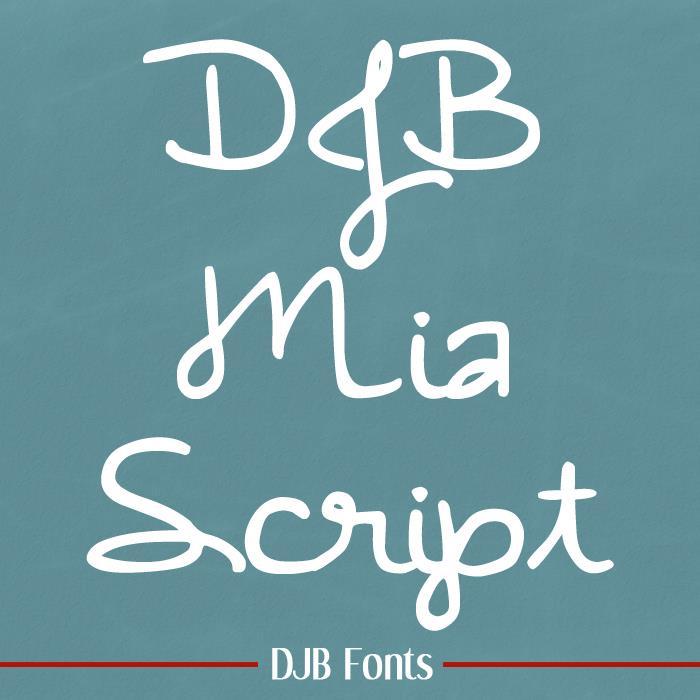 Image for DJB MiaScript font