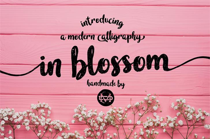 Image for in blossom vintage font