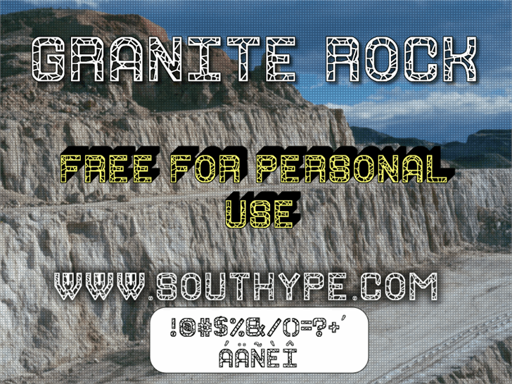 Image for Granite Rock St font
