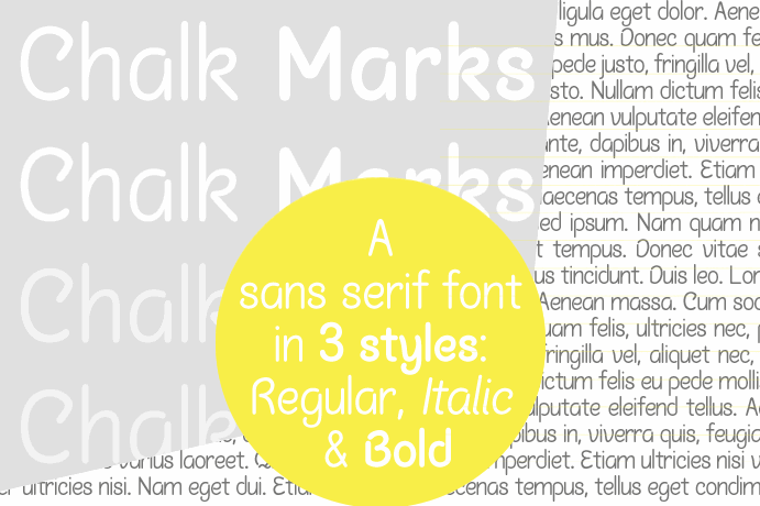 Image for Chalk Marks font