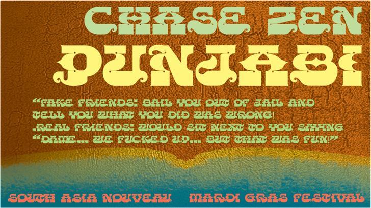 Image for CHASE ZEN PUNJABI font