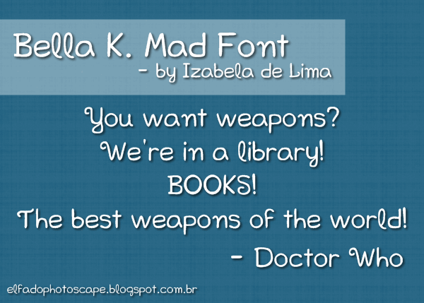 Image for Bella K. Mad Font