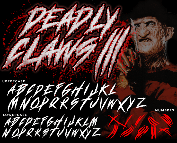 DEADLY CLAWS[ font by knackpackstudio