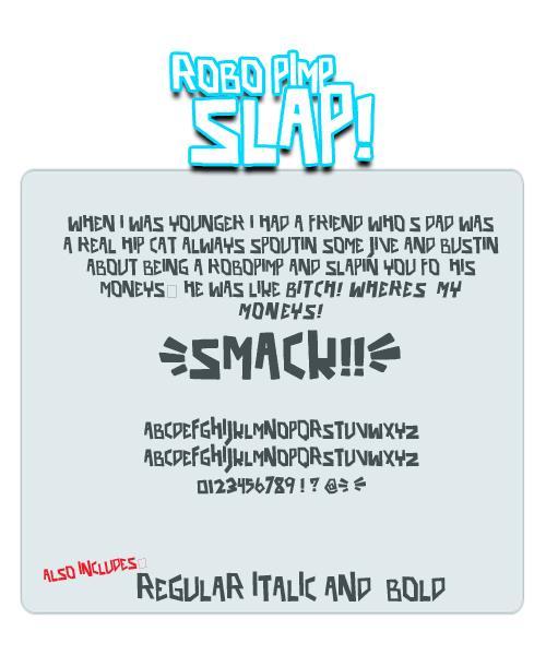 Image for robo pimp slap font