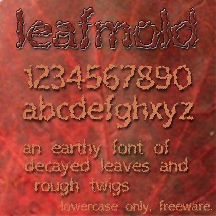 Leafmold font by Anigma New Media
