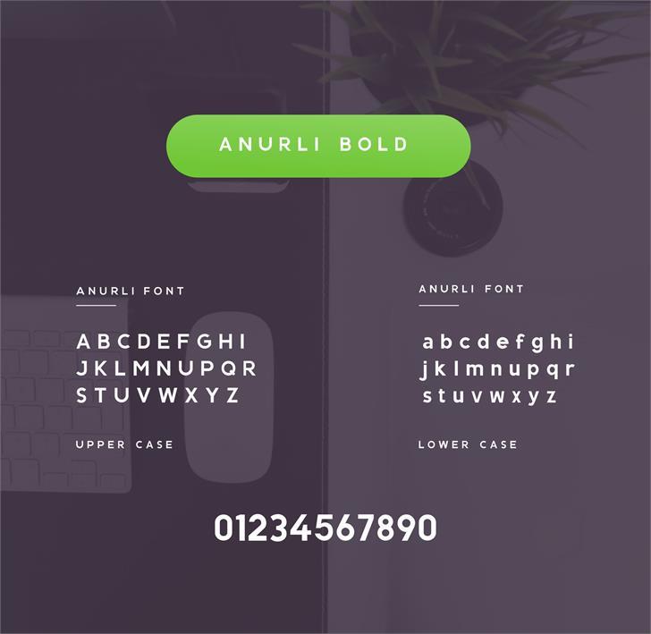 ANURLI BOLD font by anurli