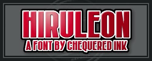 Image for Hiruleon font