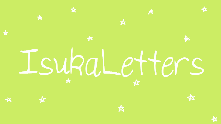 Image for IsukaLetters font