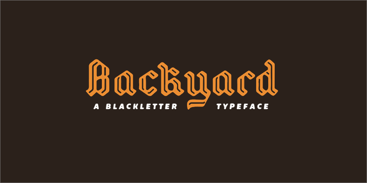 Image for Backyard PERSONAL font