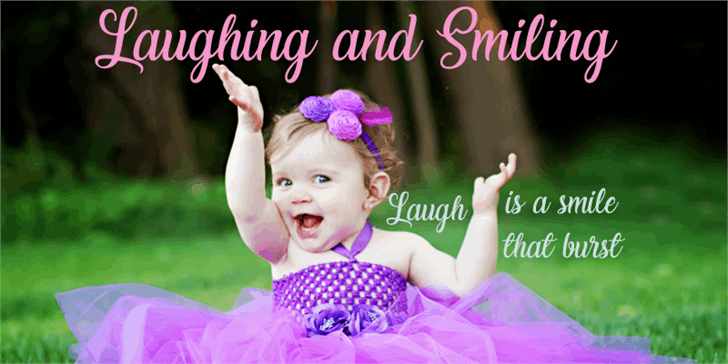Laughing and Smiling font by Foundmyfont Studio Typeface LTD