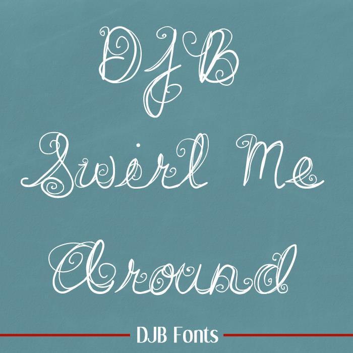Image for DJB SWIRL ME AROUND font