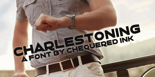 Charlestoning font by Chequered Ink