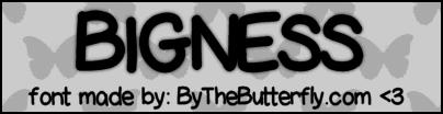 Image for Bigness font