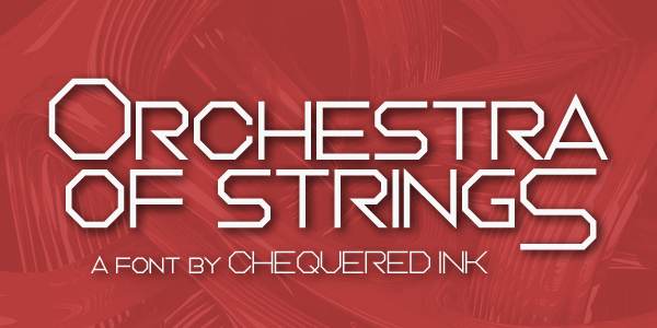 Orchestra of Strings font by Chequered Ink